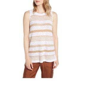 Lou & Grey Striped Knit Tank Top
